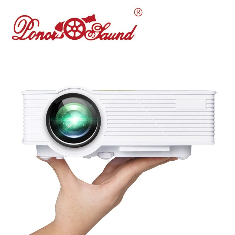 Poner Saund LED GP9 Mini Projector Wired Sync Display for Home Theater Android Support Full HD Mini projector Beamer Proyector U