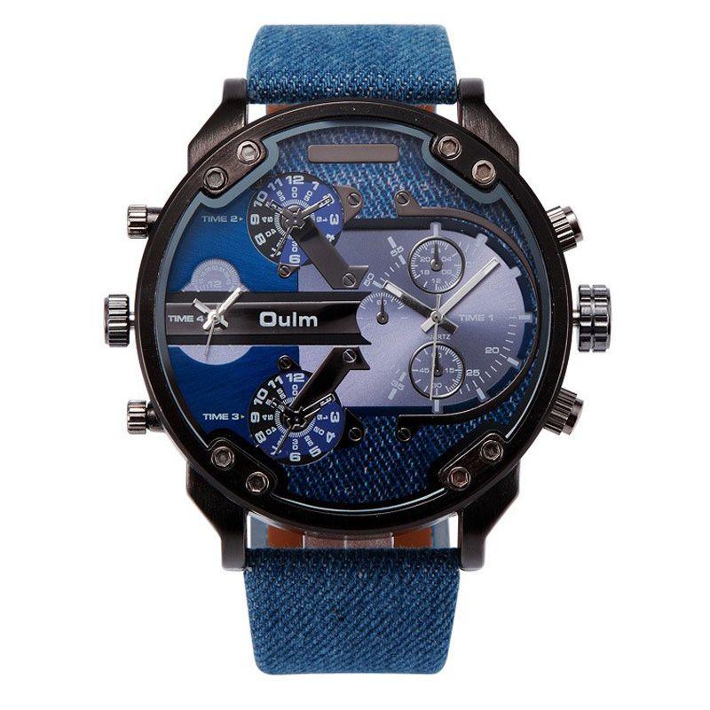 2017 Fashion New Army Military Tag sport Oulm Double Time Show Quartz Wrist Watch Male Clock Gift Brand <font><b>Reloj</b></font> Relogio Masculino