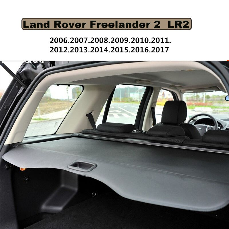 Car Rear Trunk Security Shield Cargo Cover For Land Rover Freelander 2 LR2 2006-2017 PARCEL SHELF KEEP OUT SCREEN RETRACTABLE