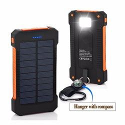2018 Panneau Solaire Portable Étanche Puissance Banque 30000 mah Dual-USB Solaire Batterie Powerbank pour Tous Les Téléphones Universal Batteries