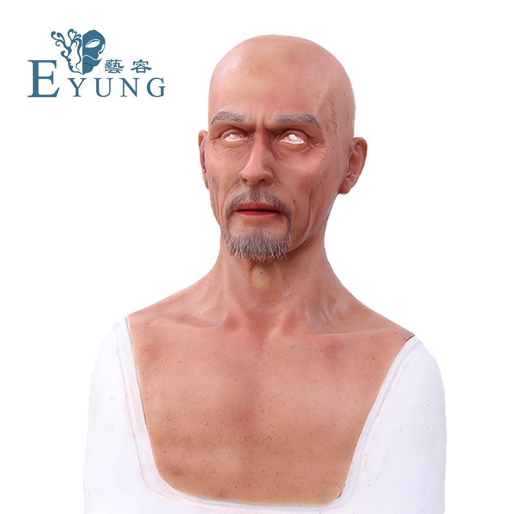 EYUNG Charles Europa mann gesicht Simulation maske Top realistische silikon alte männer maskerade Film und fernsehen spezialeffekte prop