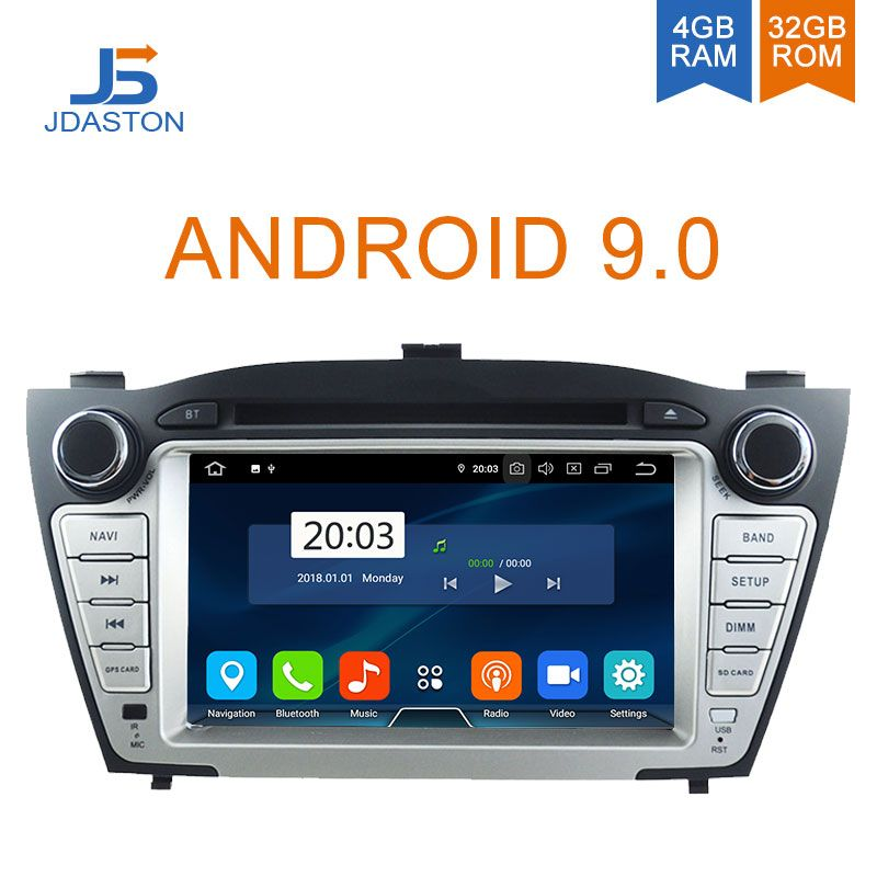 JDASTON Android 9.0 Auto DVD Player Für Hyundai iX35 Tucson 2009-2015 WIFI Multimedia GPS Stereo 2 Din Auto Radio band recorder