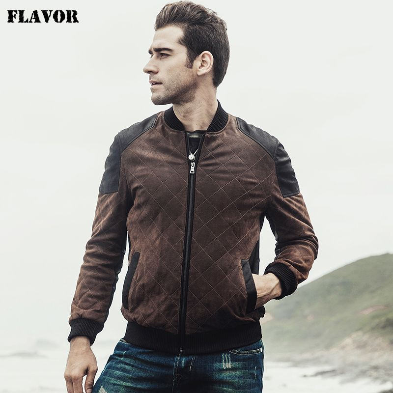 2017 New Men's Retro Real leather Bomber jacket male Autumn Winter warm Baseball Genuine Leather Jacket