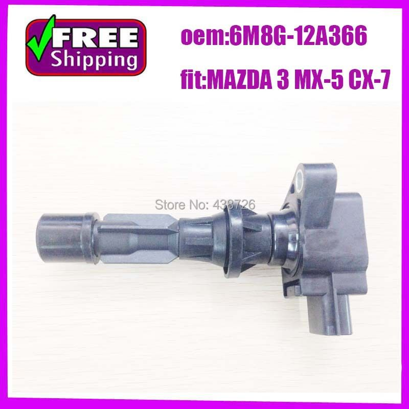 IGNITION COIL PLUG FITS for MAZDA  3  2.0L 2.3L 2.5L L4  Ignition coil  pack 6M8G-12A366 L3G2-18-100A L3G218100A9U