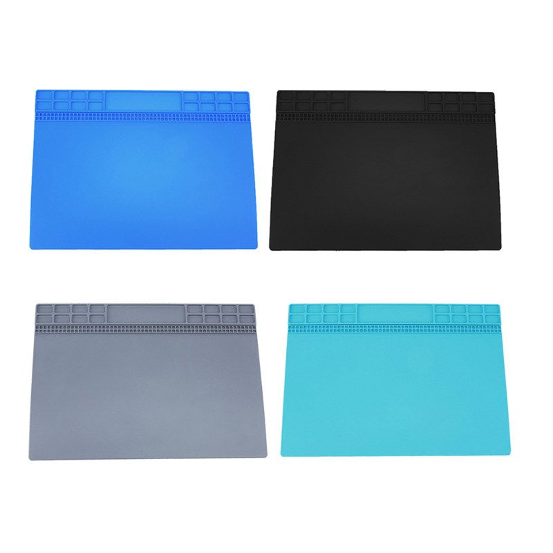 Heat-resistant Soldering Mat Silicone Heat Gun BGA Soldering Station Insulation Pad Repair Tools Desk Mat Maintenance Platform