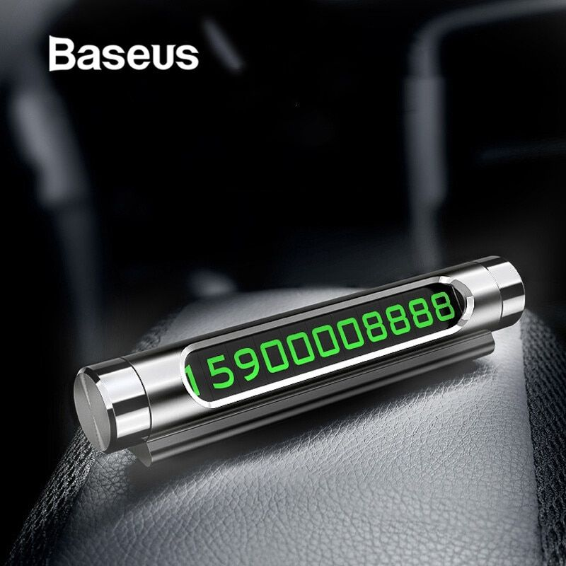 Baseus Temporary Car Parking Luminous Card Phone Number Auto Parking Number Plate Rotary Creative Plates Mobile Card