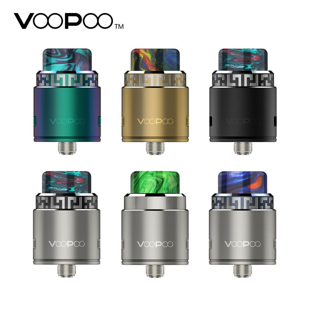 Electronic Cigarette Voopoo Rune 26mm RDA Tank Atomizer Stainless Steel Adjustable Sideling Airflow for Squonkor Vape Vaporizer