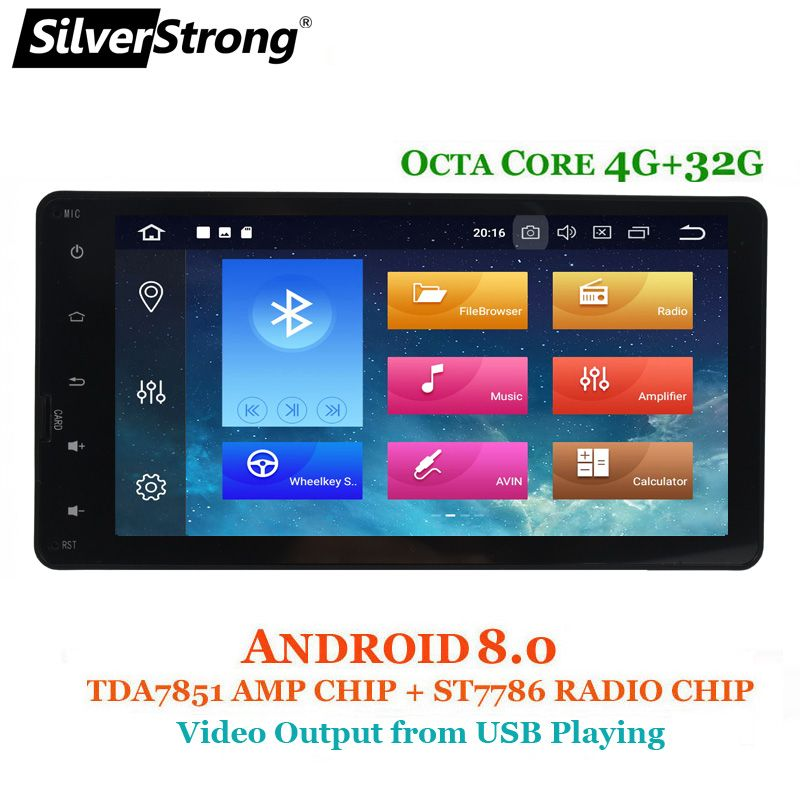SilverStrong 8Core 4+32GB Car GPS For MITSUBISHI Android Outlander 2DIN for ASX Pajero 2013-2016 Radio