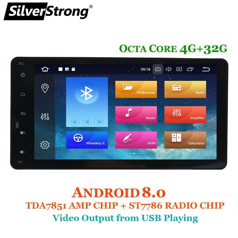 SilverStrong 8Core 4G Car GPS For MITSUBISHI Android8.1-8.0 Outlander 2014 2015 2016 2017 2018 2DIN for ASX Pajero 2014-2017
