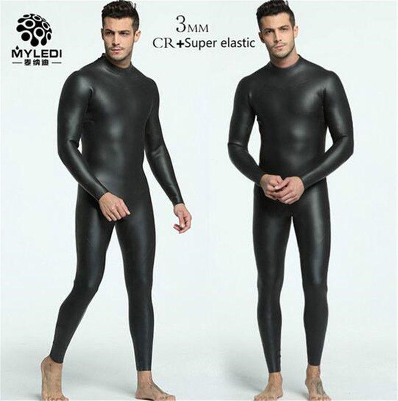MYLE GEND 3MM CR+ Ultra Elastic Diving Surfing Wetsuit Men Full Body Spearfishing Wet Suit For Triathlon Kitesurfing Jumpsuit