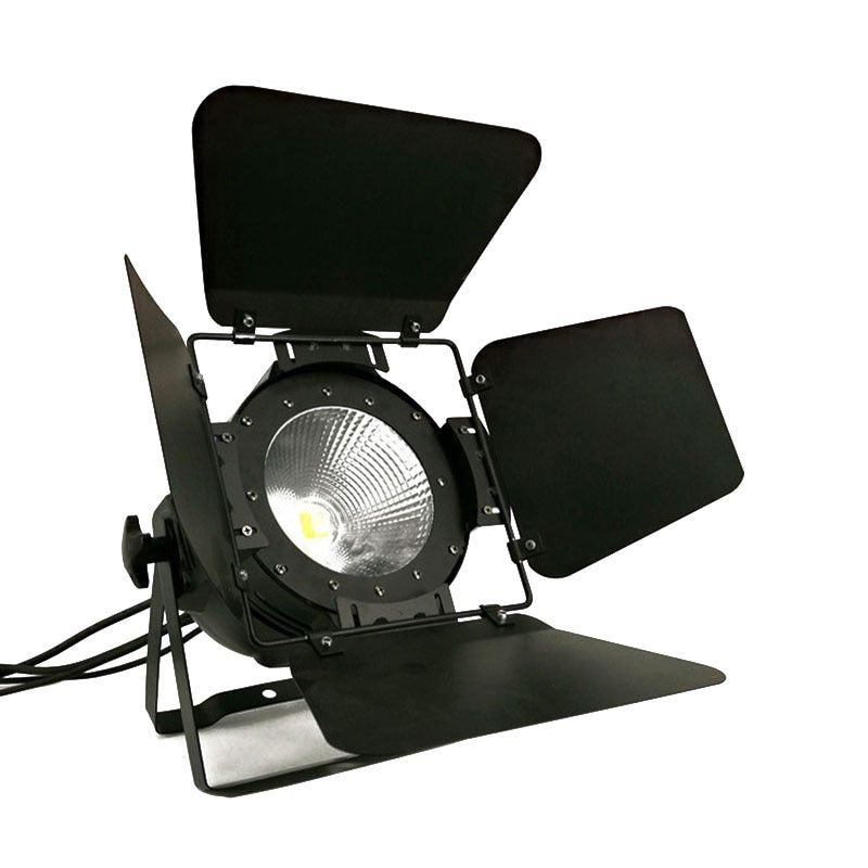LED Par COB 200W With Barn Doors High Power Aluminium Case Stage Lighting with 200W COB RGBWA+UV 6in1 ,cool white and warm white