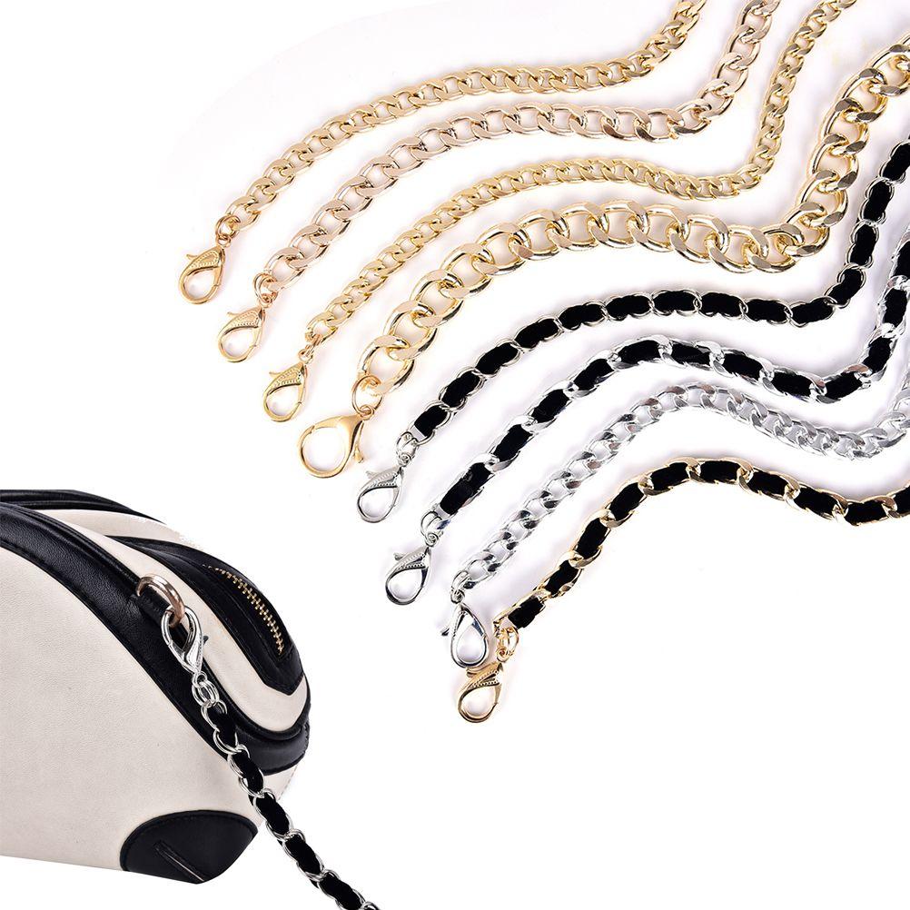 1PCS 120cm Handbag Metal Chains Purse Chain With Buckles Shoulder Bags Straps Handbag Handles Bag Parts & Accessories