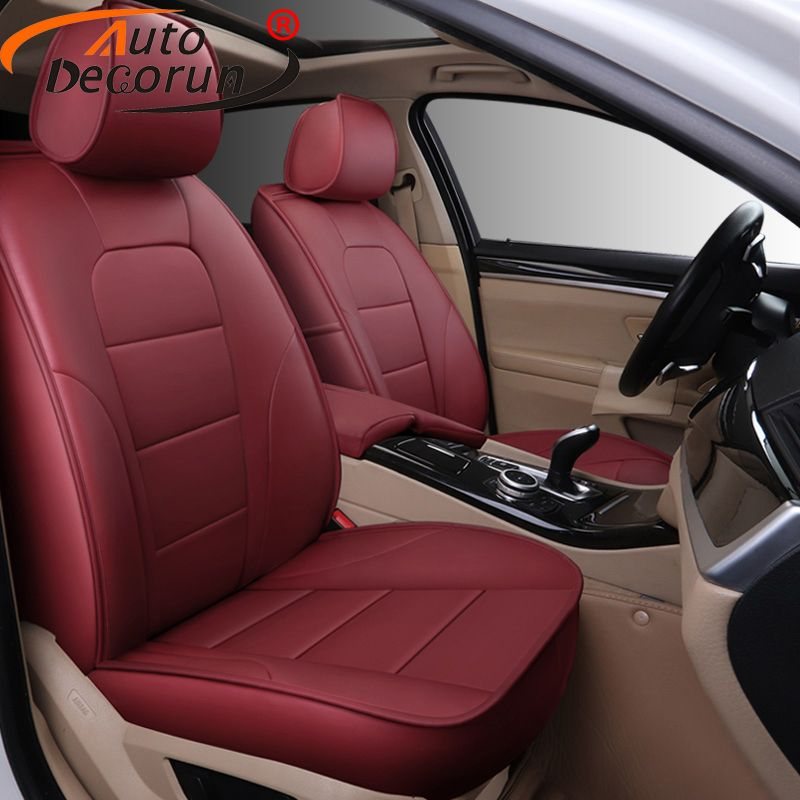 AutoDecorun 25PCS/Set Perforated Cowhide Leather Seat Covers for Mazda 5 Accessories Seat Cushion Cover Car Protectors 2008-2013