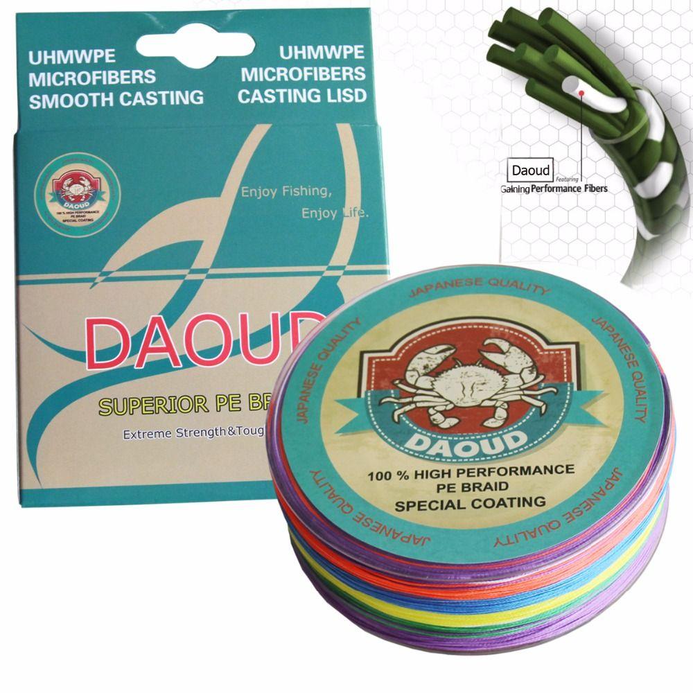 Daoud Geflochtene Angelschnur 8 Stränge 500 Mt (547 Yards) Supermacht Abriebfeste Braid Angelschnur Qualität Superline