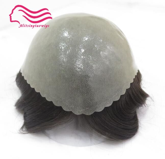 Good durable thin skin Men toupee 8x10inch , hair men wig ,hair replacement , hair system free shipping , Tsingtaowigs
