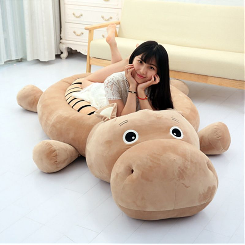 Fancytrader Big Animals Hippo Tiger Duck Dog Tatami Bed Stuffed Anime Toys Carpet 200cmX100cm