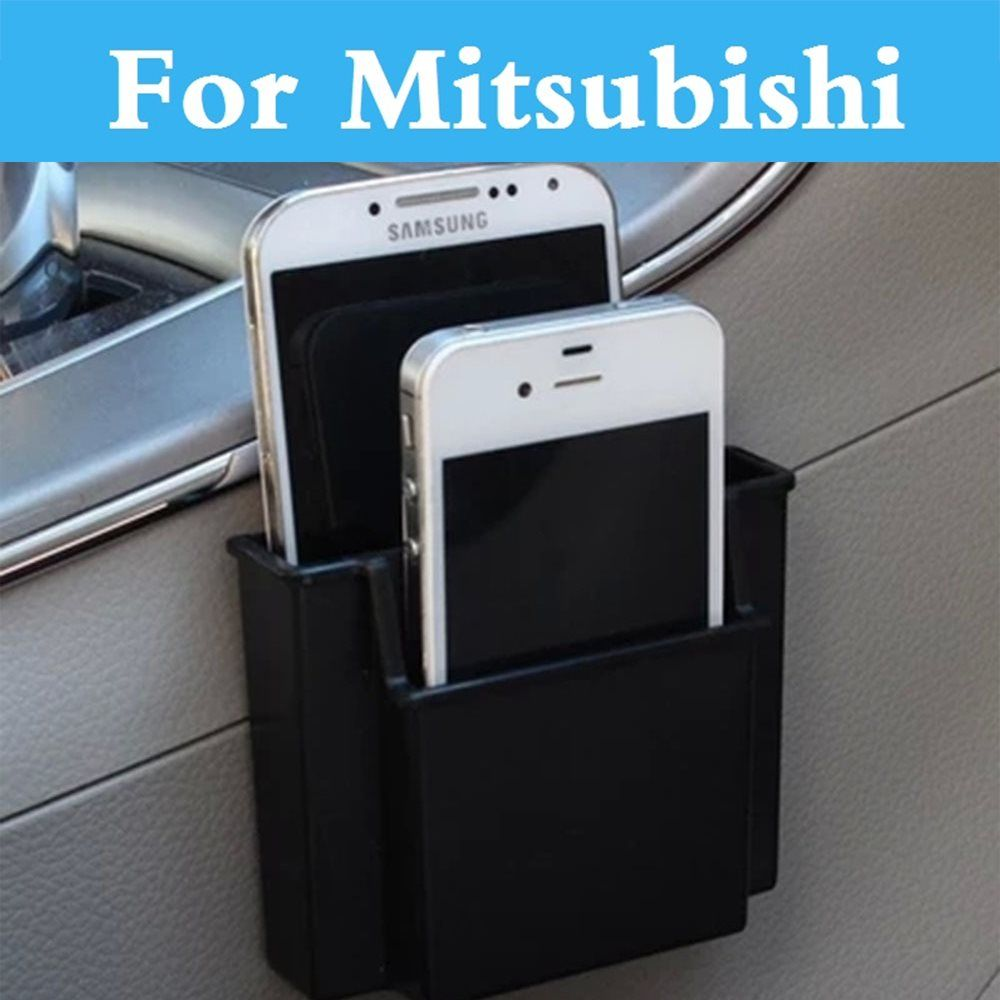 Car Storage Pouch Bag Phone Charge Box Holder Organizer For Mitsubishi Outlander Pajero Mini Rvr Space Star Mirage Montero Sport