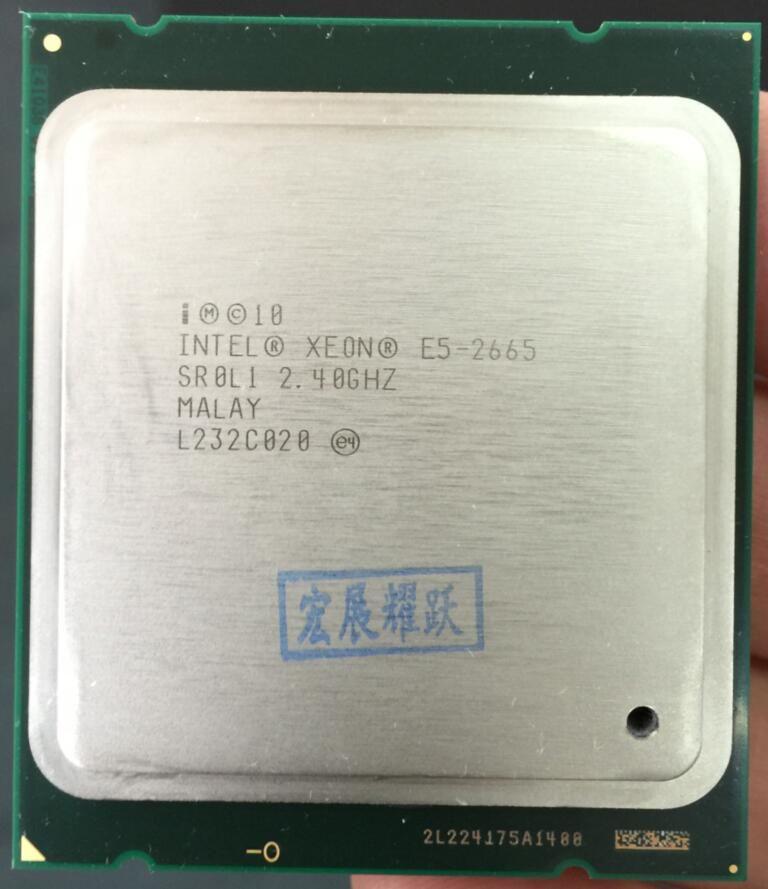 Intel Xeon Prozessor E5-2665 E5 2665 Server CPU (20 mt Cache, 2,40g MHz SROL1 C2 LGA2011 CPU