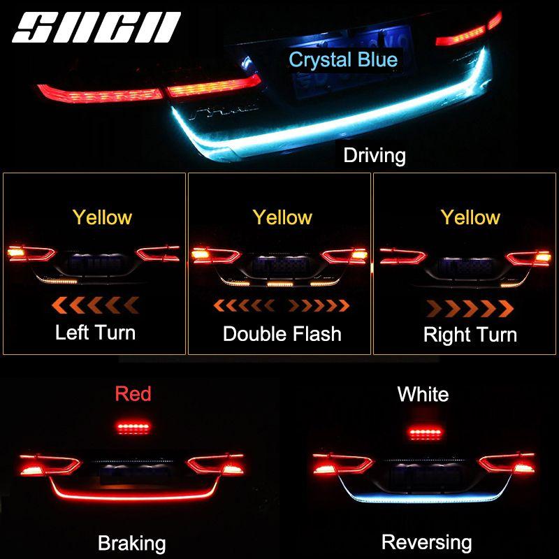 SNCN Trunk Strip Light LED Car Dynamic Streamer Tail Lights For Cadillac ATS CT6 CTS XT5 XTS ELR SRX Escalade XT4 Waterproof