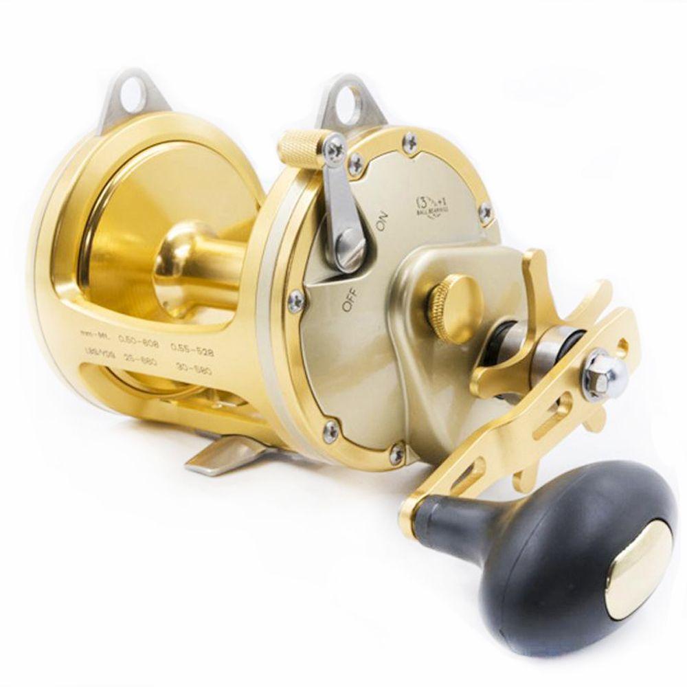 Singnol High-end Full Metall Gold ACT351 Trommel Rollen Casting Große Modell Große Fisch Trolling Rad Tiefsee Eisen boot Angeln Reel