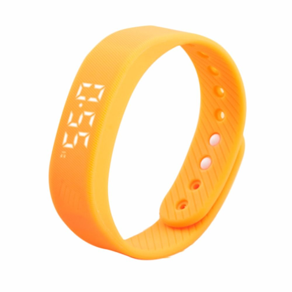 Multi Color 3D T5 LED Display Sports counter Pedometer Gauge Fitness Bracelet Smart Step Tracker Pedometer In Stock Wholesale