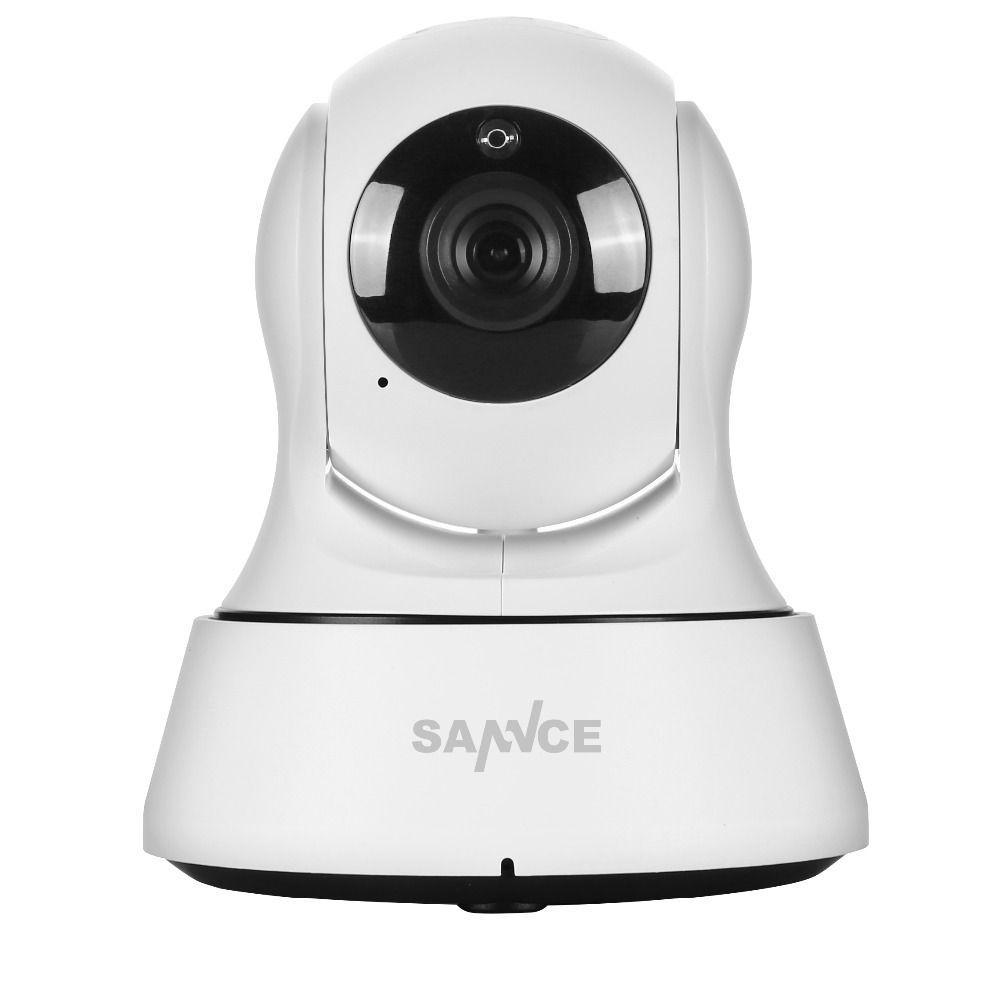 SANNCE P2P 1.0Mp Indoor HD 720P IP Camera 1/4'' cmos 6pcs ONVIF IR Cut NIght Vision Wireless IP Camera
