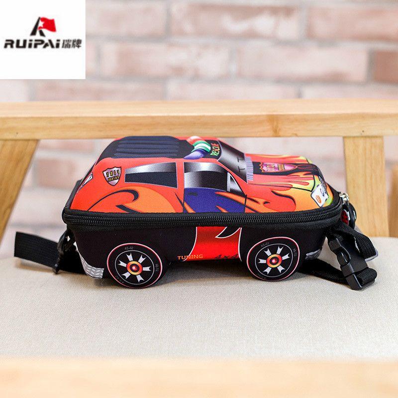 Детские школьные сумки 3D автомобиля дети рюкзак Детский сад Школьный малыш сумки мультфильм Дошкольные Рюкзаки для мальчиков