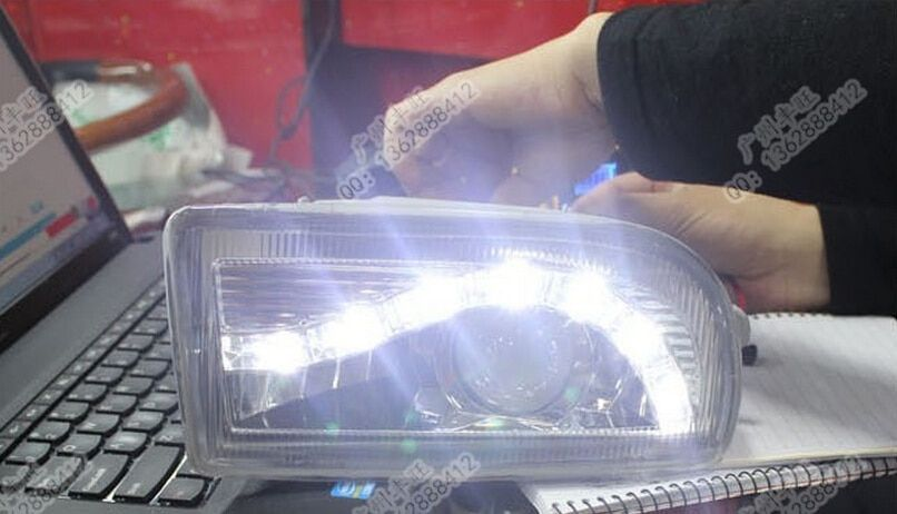 for 1998-2007 Toyota Prado land cruiser 4500 4700 LC100 led drl daytime running light with fog lamp and projector len