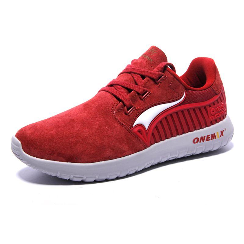 ONEMIX Men's Running <font><b>Shoes</b></font> Male chaussures de sport Suede Rubber Comfortable Athletic <font><b>Shoes</b></font> for Men Sneakers EUR Size 39-45