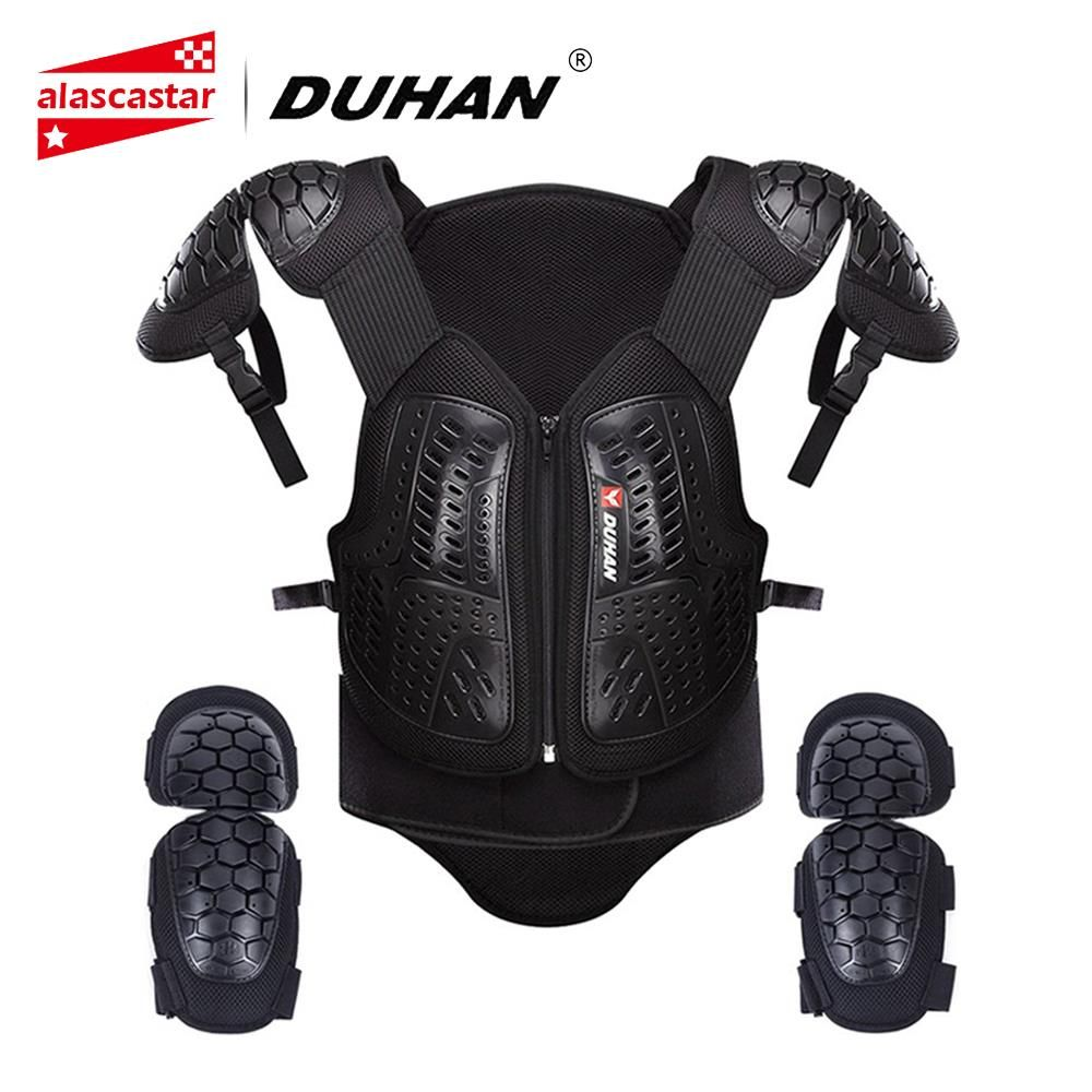 DUHAN Motocross Clothing Racing Body Armor Men Motorcycle Jacket Moto Waistcoat Protection Vest Chest Protective Gear Elbow Pads