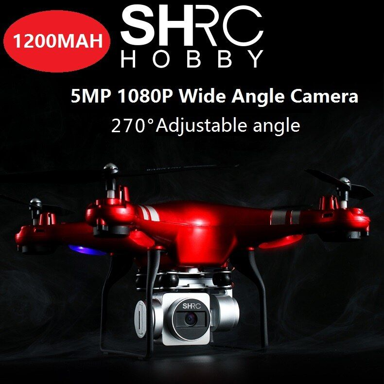 2PCS Battery HR SH5 SH5HD Wifi FPV Drone With Camera HD Wide angle 5MP 1080P Gimbal RC Quadcopter VS H501S X5C X8SW X8HG bugs3