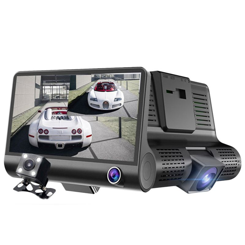 2 in 1 Triple Lens Radar Detector DVR Dash Cam Safety Speed Control Voice System Vehicle Radar Detection 3 Cameras Car Recorders