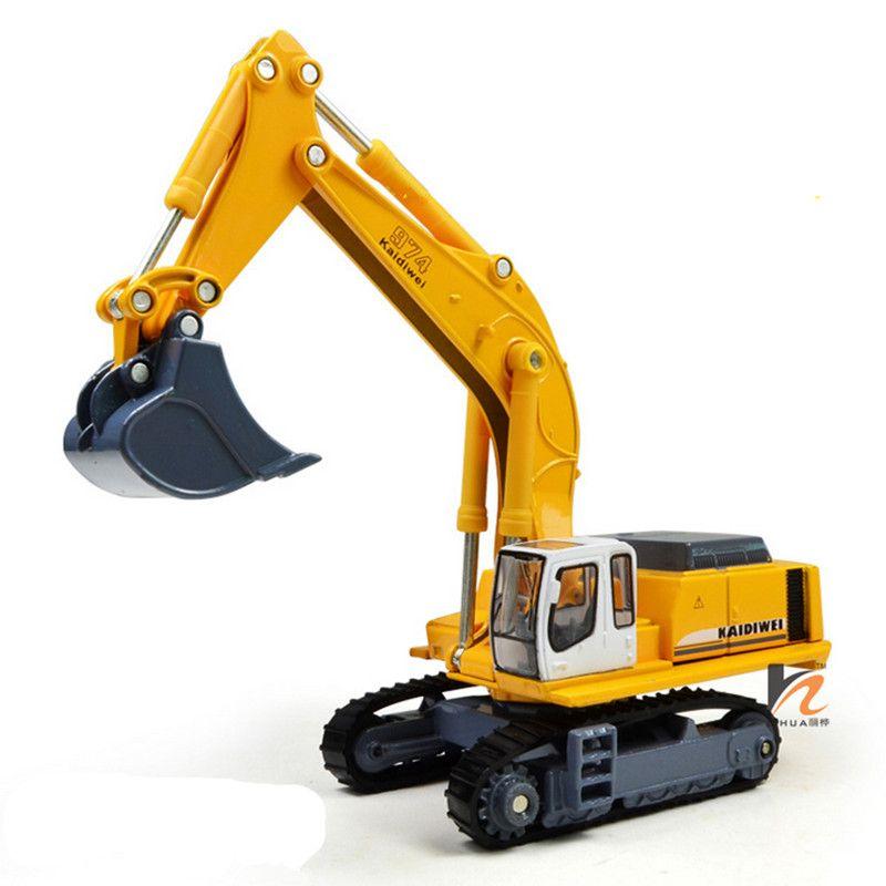 KAIDIWEI 1: 87 Aleación Excavadora Camión de Juguete de Metal fundido a presión Modelo de Coche Niños Juguetes Para Niños