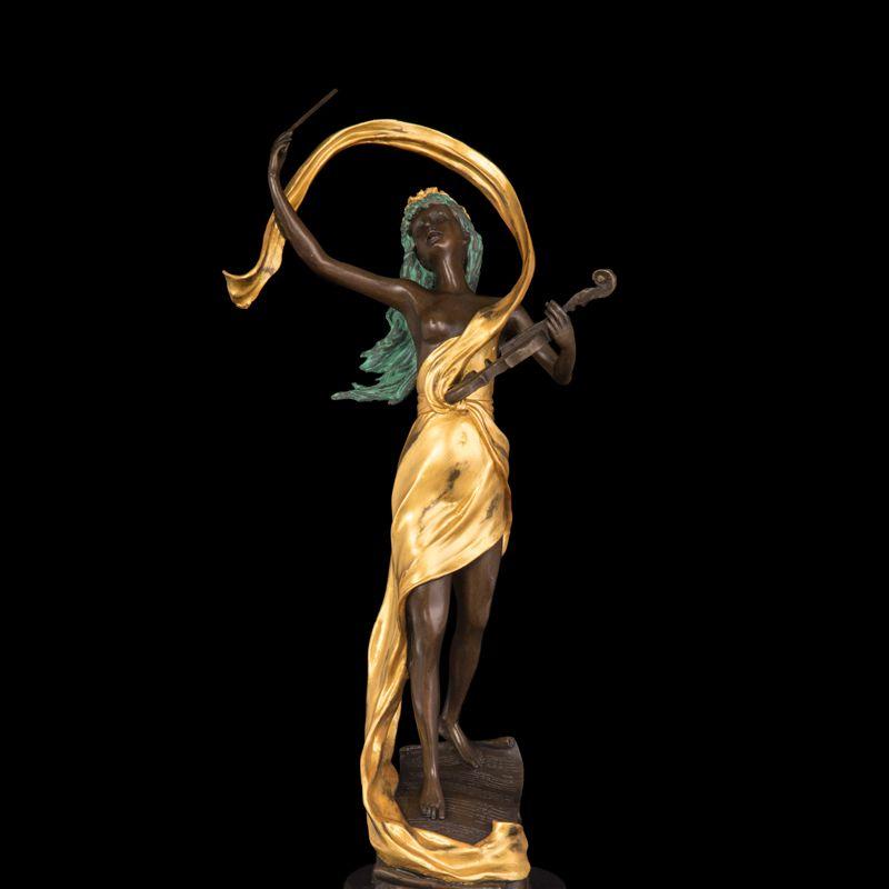 ATLIE BRONZEN Reine handgemachte westlichen künste Klassische violinist skulptur bronze figuren kunsthandwerk