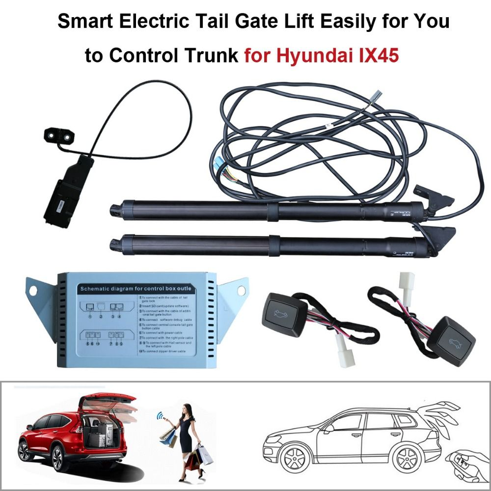Smart Auto Electric Tail Gate Lift for Hyundai iX45 Control Set Height Avoid Pinch With electric suction