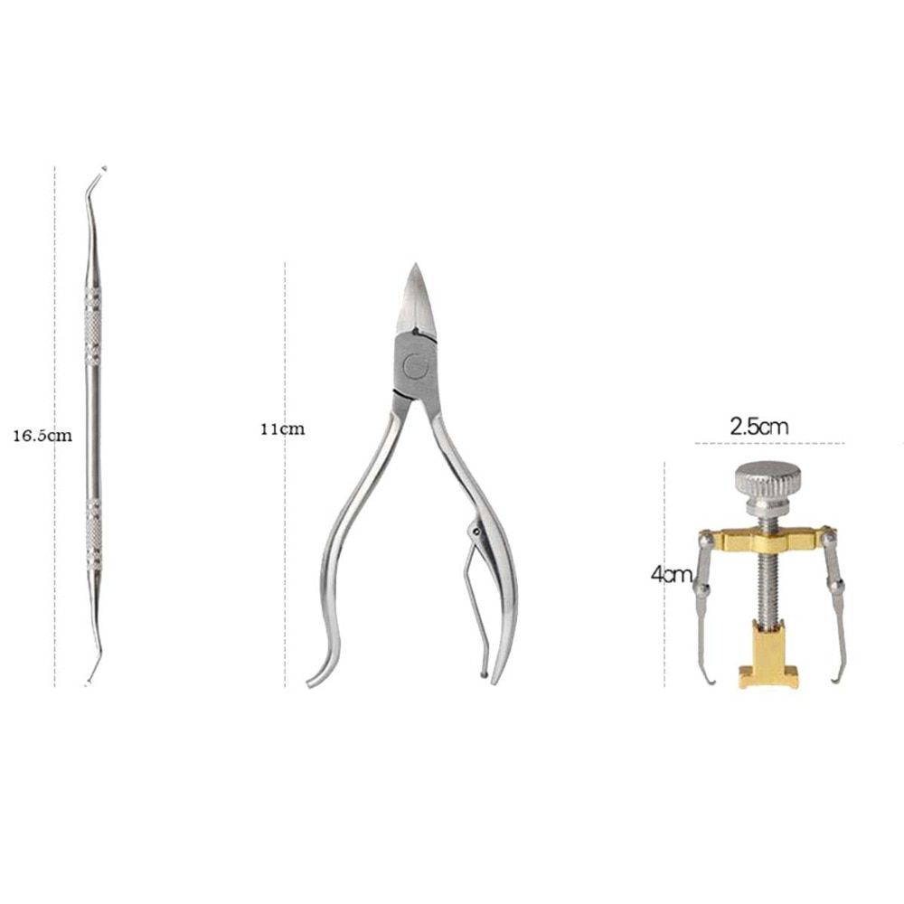 1set Nail Clipper Ingrown Toe Nail Correction Tool , Stainless Steel Cuticle Nipper ,Nail Art Correction Manicure