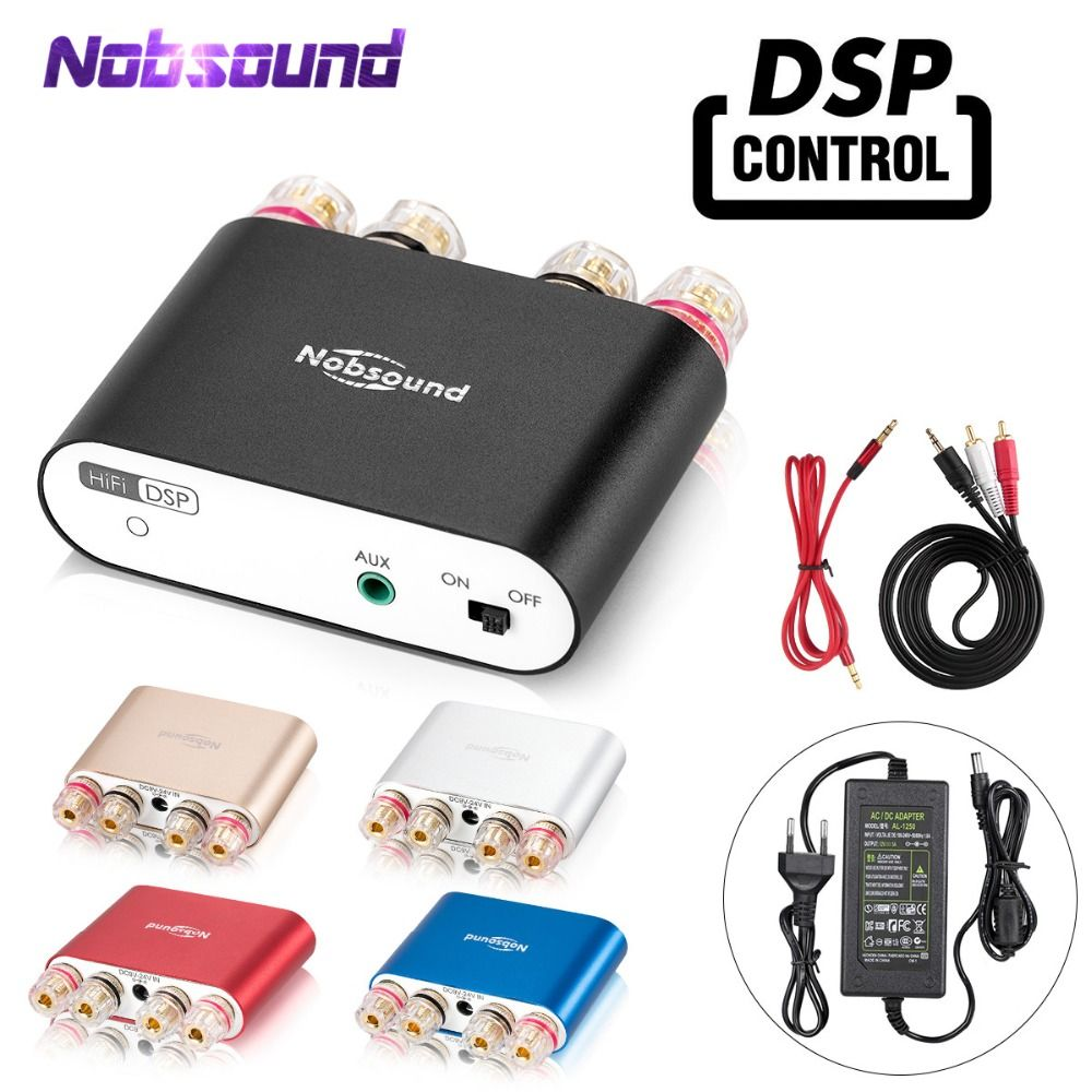 2019 Nobsound NS-10G PRO Hi-Fi DSP Digital Amplifiers Stereo Mini Bluetooth 4.2 Home Audio Power Amp 50W*2 With Power Adapter