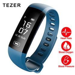 TEZER Original band 50 Letters Message push blood pressure heart rate monitor smart Fitness Bracelet Watch intelligent Pedometer