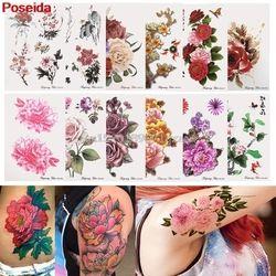 Временные татуировки 12 стилей Временные татуировки s водостойкие наклейки для татуировки цветы серии рука поддельные передачи # H027 #