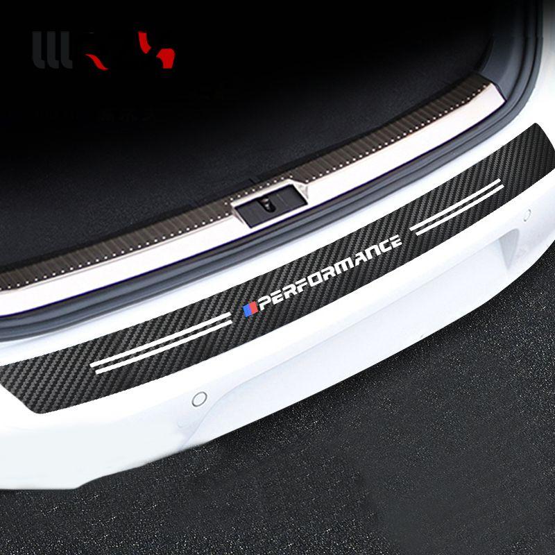 3D Carbon fiber M Power M performance car bumper sticker For BMW E30 E36 E39 E46 E53 E60 E64 E70 E83 E85 E87 E90 E92 E71
