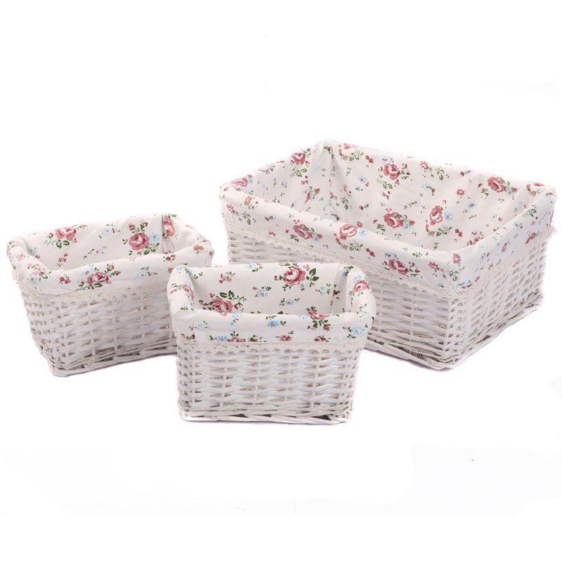 Petits grands paniers et bacs de rangement en osier tissé zakka conteneurs rectangulaires tiroirs boîte organisateur cesto de roupa suja panier