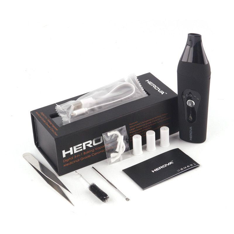 Original AIRISTECH Herova 3in1 Wax Dry Herb and Oil Digital Vaporizer Portable vapor Pen E cigarette Vaporizer Dry Herb Vape Pen