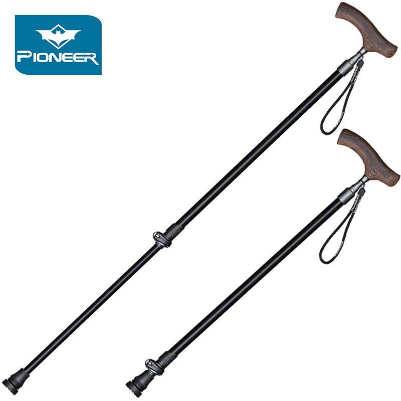 Collapsible 2 Section Telescopic Trekking Poles 7075 Aluminium Alloy Walking Sticks Hiking Trekking Cane Lightweight For Elderly