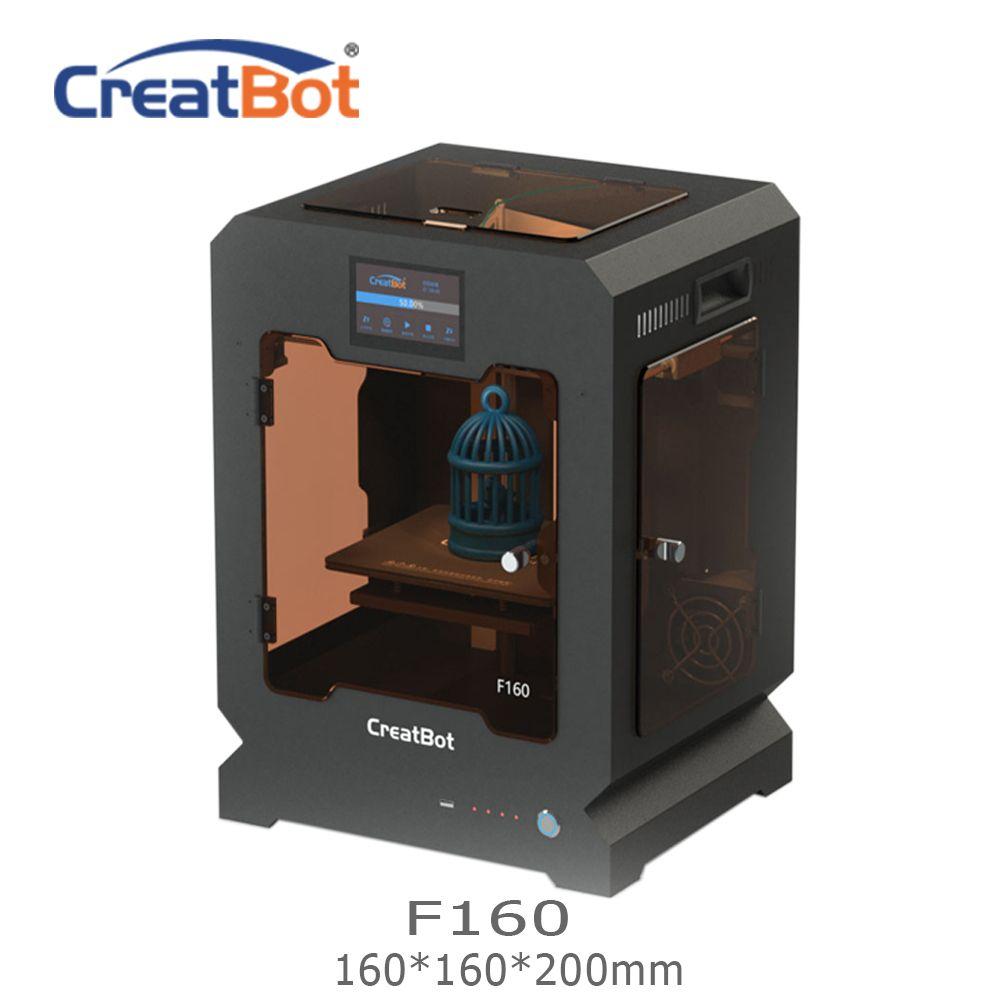 F160 CreatBot 3d-drucker Einzigen Extruder 160*160*200mm 1,75mm ABS Druck Billig 3d drucker Ultem Peek drucker