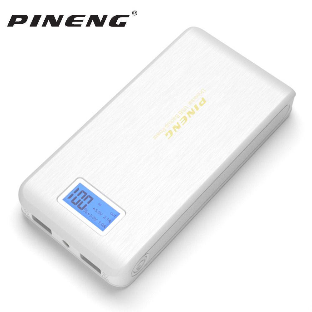 Original Pineng PN929 batterie externe 15000 mAh double USB LCD lampe de poche Powerbank Bateria Externa batterie Chargeur Portable Chargeur