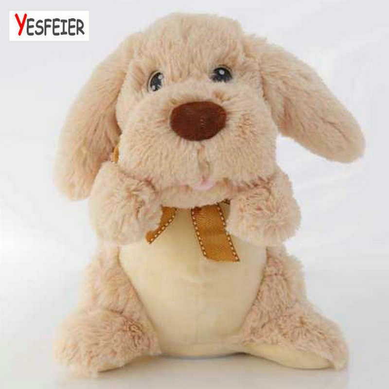 Drop shipping Move ear dog doll stuffed Educational plush toy Chidlren peek a boo clapping one's hands musical dog toys