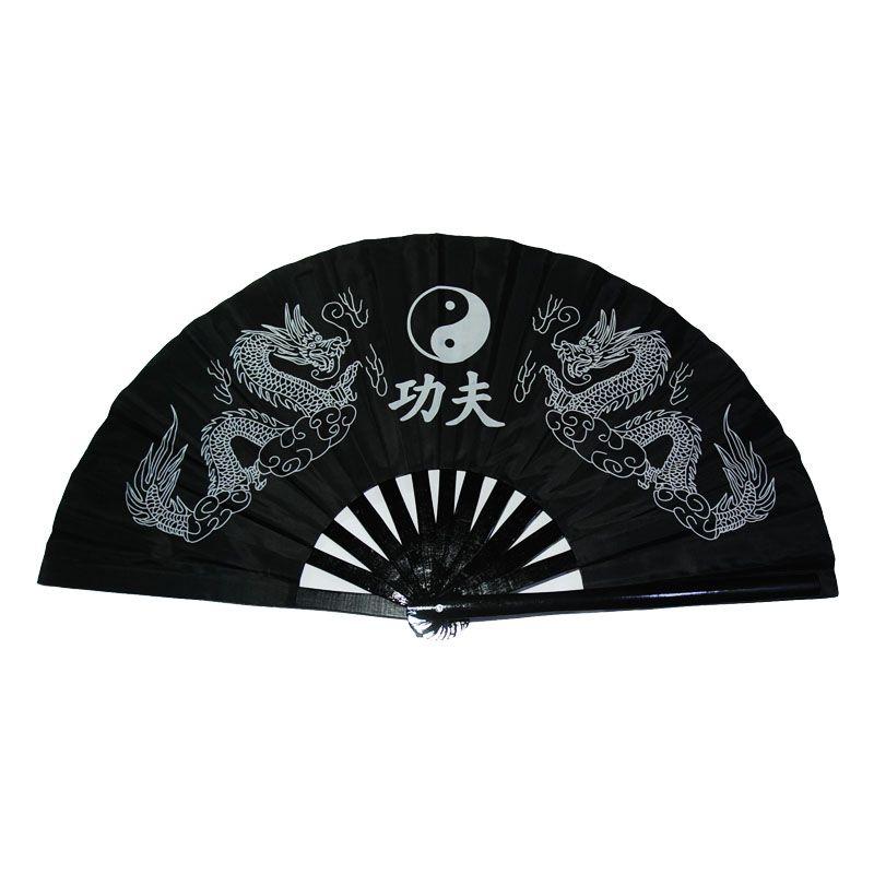 Adult Kids Men Women Red plastic/Bamboo fan Taiji/Taichi Kung Fu Ring Fan Performance dance fan