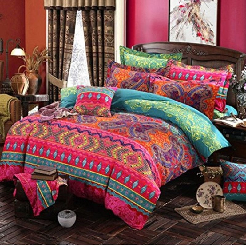 Bohemian 3d comforter bedding sets Mandala duvet cover set winter bedsheet Pillowcase queen king size Bedlinen bedspread