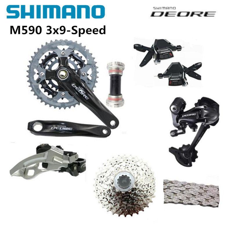 SHIMANO DEORE M590 Groupset Umwerfer für MTB Mountainbike geschwindigkeit von 27 s 3x9 s Fahrrad Racing und ausbildung Teile
