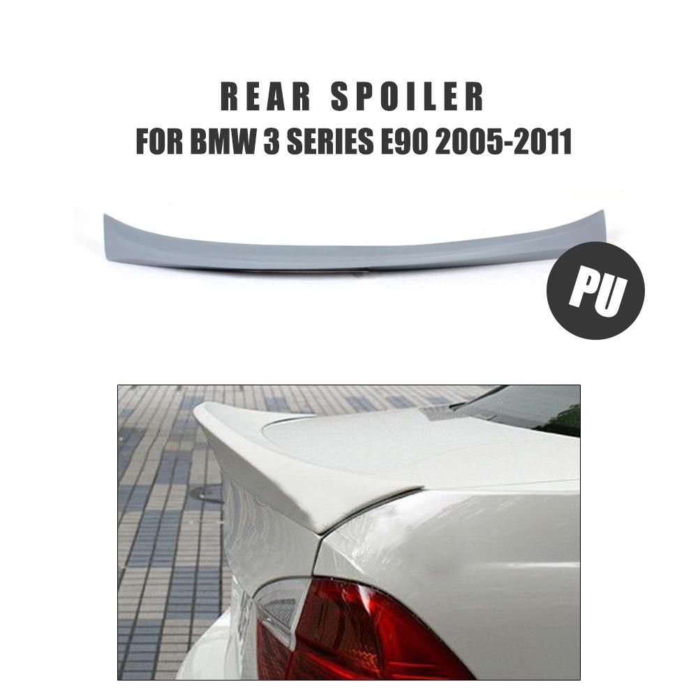 PU Unpainted Primer Grey Rear Trunk Boot Spoiler Wing For BMW 3 Series E90 Sedan 2005-2011 Car Styling